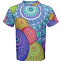 India Ornaments Mandala Balls Multicolored Men s Cotton Tee View1