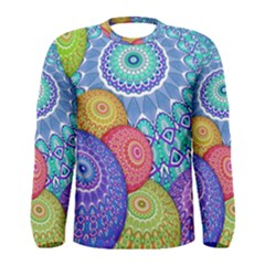 India Ornaments Mandala Balls Multicolored Men s Long Sleeve Tee