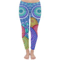India Ornaments Mandala Balls Multicolored Winter Leggings