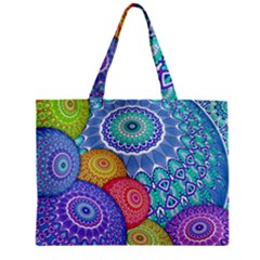 India Ornaments Mandala Balls Multicolored Zipper Mini Tote Bag by EDDArt