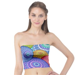 India Ornaments Mandala Balls Multicolored Tube Top