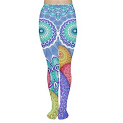 India Ornaments Mandala Balls Multicolored Women s Tights