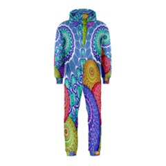 India Ornaments Mandala Balls Multicolored Hooded Jumpsuit (kids)