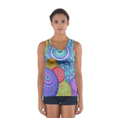 India Ornaments Mandala Balls Multicolored Women s Sport Tank Top