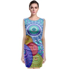 India Ornaments Mandala Balls Multicolored Classic Sleeveless Midi Dress