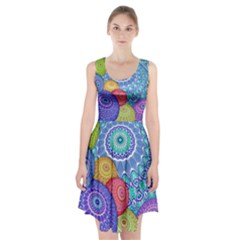 India Ornaments Mandala Balls Multicolored Racerback Midi Dress