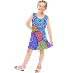 India Ornaments Mandala Balls Multicolored Kids  Tunic Dress