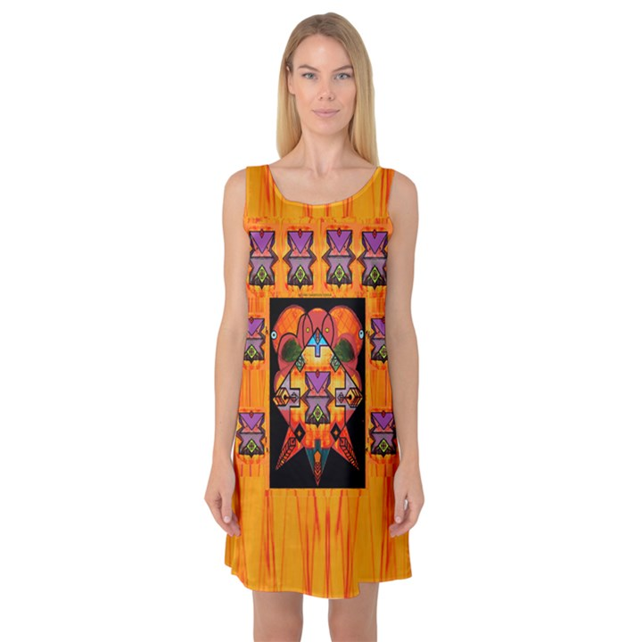 Clothing (20)6k,kk  O Sleeveless Satin Nightdress
