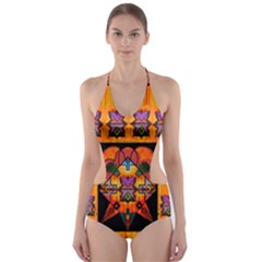 Clothing (20)6k,kk  O Cut Out One Piece Swimsuit
