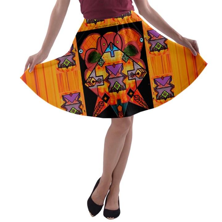 Clothing (20)6k,kk  O A-line Skater Skirt