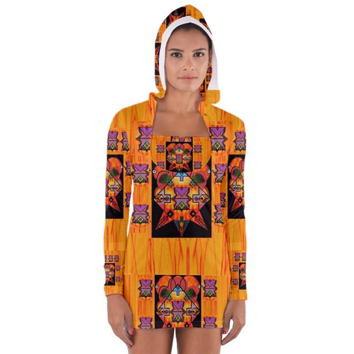 Clothing (20)6k,kk  O Women s Long Sleeve Hooded T-shirt