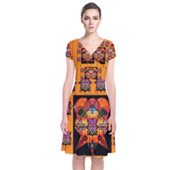 Clothing (20)6k,kk  O Short Sleeve Front Wrap Dress by MRTACPANS