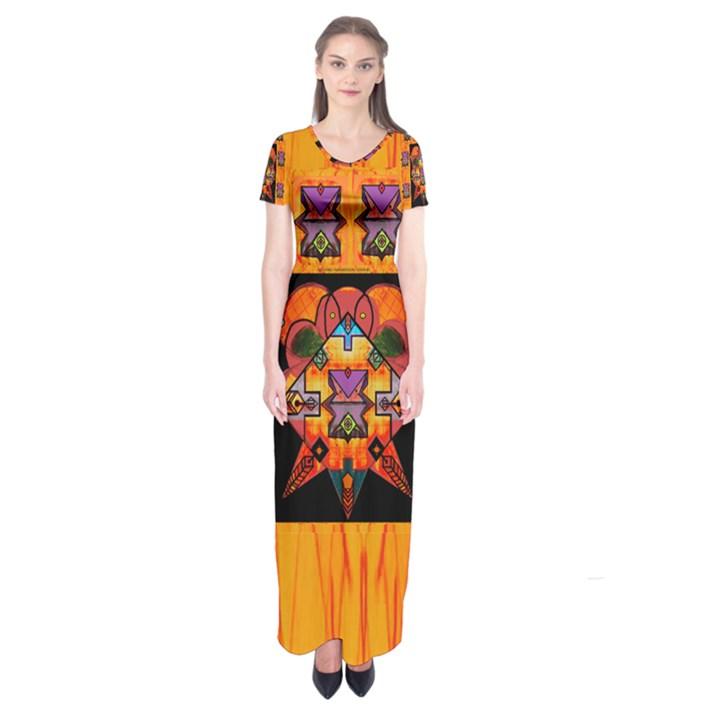 Clothing (20)6k,kk  O Short Sleeve Maxi Dress