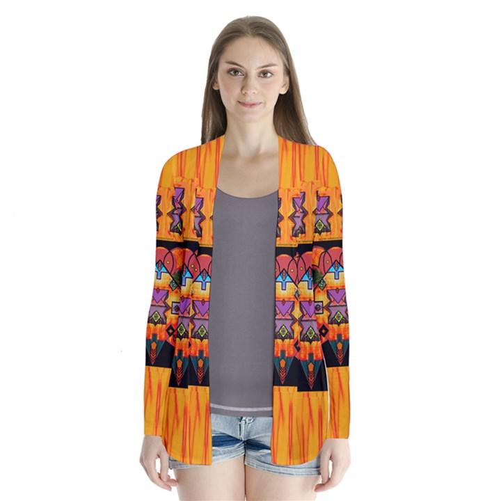 Clothing (20)6k,kk  O Drape Collar Cardigan