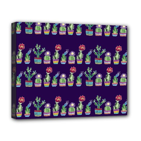 Cute Cactus Blossom Deluxe Canvas 20  X 16   by DanaeStudio