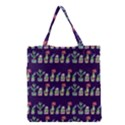 Cute Cactus Blossom Grocery Tote Bag View1