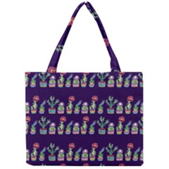 Cute Cactus Blossom Mini Tote Bag by DanaeStudio