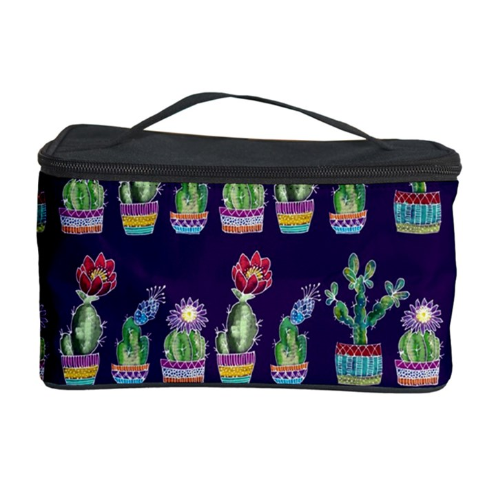 Cute Cactus Blossom Cosmetic Storage Case