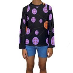 Alphabet Shirtjhjervbret (2)fvgbgnh Kids  Long Sleeve Swimwear