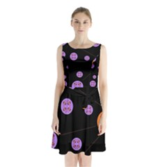 Alphabet Shirtjhjervbret (2)fvgbgnh Sleeveless Chiffon Waist Tie Dress