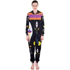 Flower F D L Hooded Jumpsuit (ladies)