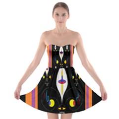 Flower F D L Strapless Bra Top Dress