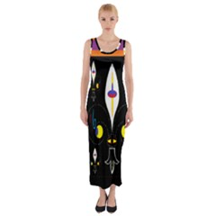 Flower F D L Fitted Maxi Dress