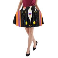 Flower F D L A Line Pocket Skirt