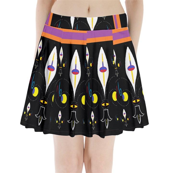Flower F D L Pleated Mini Skirt