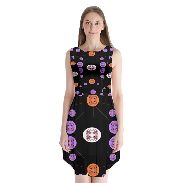 Alphabet Shirtjhjervbret (2)fvgbgnhll Sleeveless Chiffon Dress