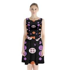 Alphabet Shirtjhjervbret (2)fvgbgnhll Sleeveless Chiffon Waist Tie Dress