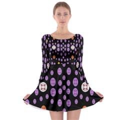 Alphabet Shirtjhjervbret (2)fvgbgnhllhn Long Sleeve Skater Dress by MRTACPANS