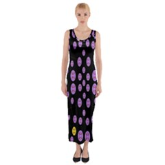 Alphabet Shirtjhjervbret (2)fvgbgnhllhn Fitted Maxi Dress by MRTACPANS