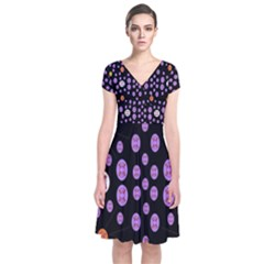 Alphabet Shirtjhjervbret (2)fvgbgnhllhn Short Sleeve Front Wrap Dress