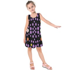 Alphabet Shirtjhjervbret (2)fvgbgnhllhn Kids  Sleeveless Dress by MRTACPANS