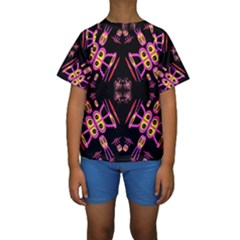 Alphabet Shirtjhjervbret (2)fv Kids  Short Sleeve Swimwear