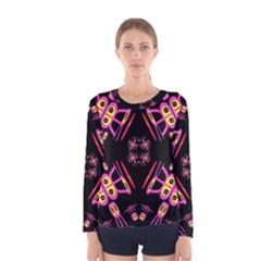 Alphabet Shirtjhjervbret (2)fv Women s Long Sleeve Tee