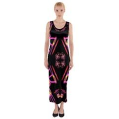 Alphabet Shirtjhjervbret (2)fv Fitted Maxi Dress
