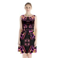 Alphabet Shirtjhjervbret (2)fv Sleeveless Chiffon Waist Tie Dress