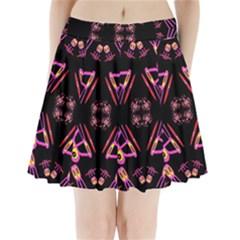 Alphabet Shirtjhjervbret (2)fv Pleated Mini Skirt