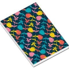 Colorful Floral Pattern Large Memo Pads by DanaeStudio