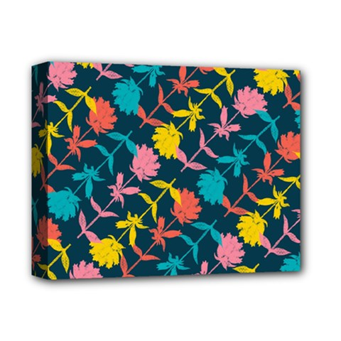 Colorful Floral Pattern Deluxe Canvas 14  X 11  by DanaeStudio