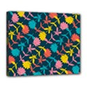 Colorful Floral Pattern Deluxe Canvas 24  x 20   View1