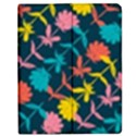 Colorful Floral Pattern Apple iPad 2 Flip Case View1