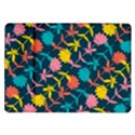 Colorful Floral Pattern Samsung Galaxy Tab 10.1  P7500 Flip Case View1