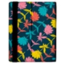 Colorful Floral Pattern Samsung Galaxy Tab 10.1  P7500 Flip Case View2
