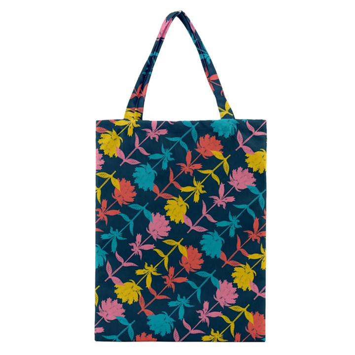 Colorful Floral Pattern Classic Tote Bag