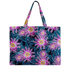 Whimsical Garden Zipper Mini Tote Bag