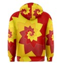 Flower Blossom Spiral Design  Red Yellow Men s Pullover Hoodie View2