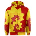 Flower Blossom Spiral Design  Red Yellow Men s Zipper Hoodie View1